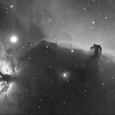馬頭星雲付近 Hα